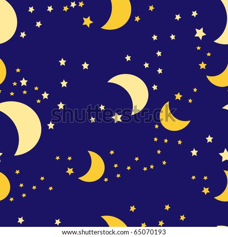 Background with the image of the moon and stars