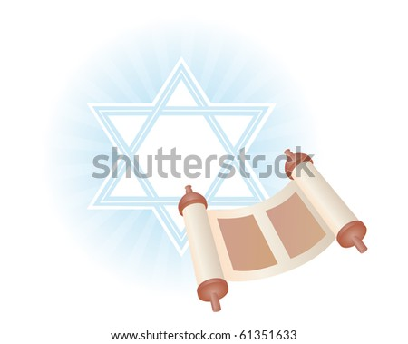 background with Torah to the holiday Simchat Torah - stock photo