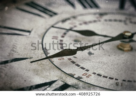 background with vintage clock - stock photo