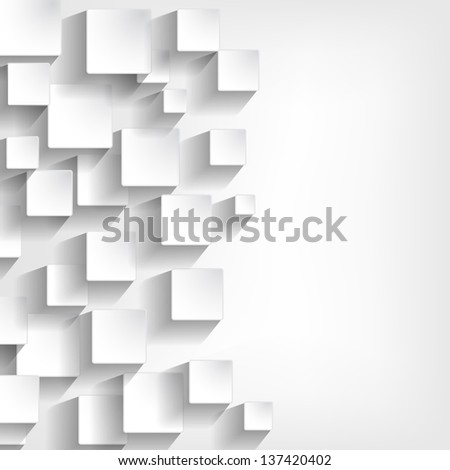 background with white squares - stock photo