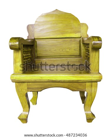 Background with wooden chairs