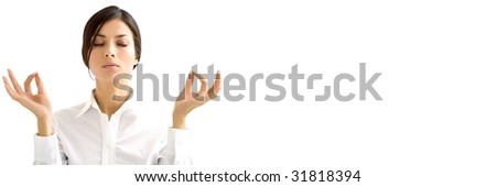 background woman portrait - stock photo