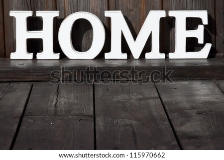 Background Wood texture Text HOME - stock photo