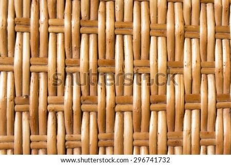 background woven wicker straw - stock photo