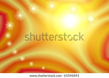Background yellow stars - stock photo