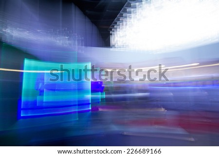 backgrounds concept - blue futuristic desktop background - stock photo