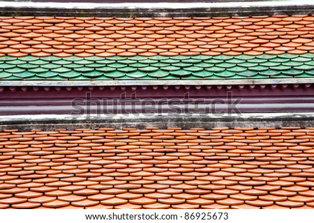 backgrounds of thai temple roof