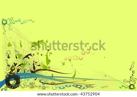 Backgrounds on abstract and grunge elements with ornament shapes. - stock photo