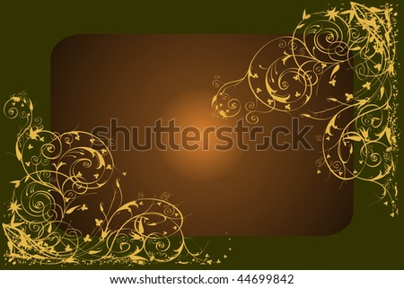 Backgrounds on abstract and grunge elements with ornament shapes - stock photo