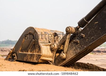 Backhoe bucket - stock photo