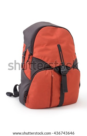 Backpack, isolated on white background, clipping path