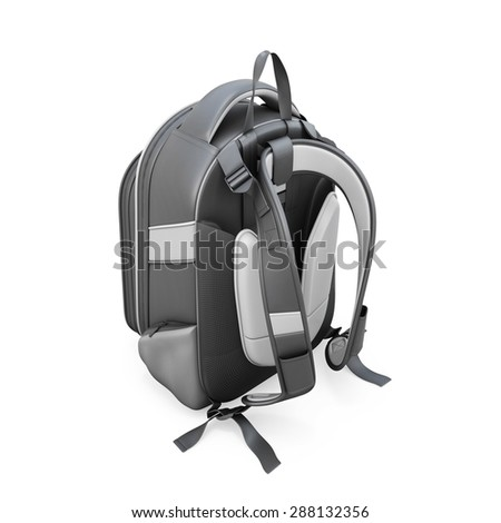 Backpack isolated on white background. 3d render image.