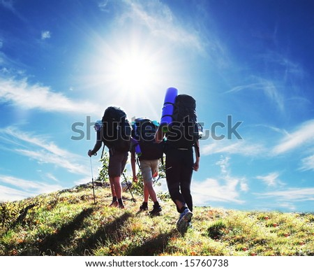 Backpackers - stock photo