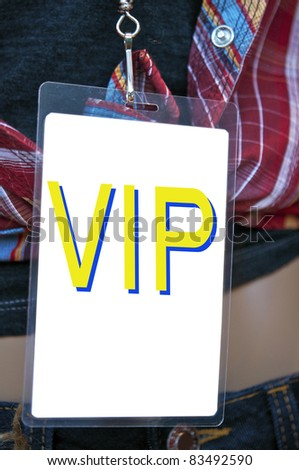 Backstage pass - stock photo