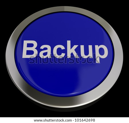 Backup Button In Blue For Archives And Storage