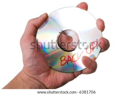 Backup disc - stock photo