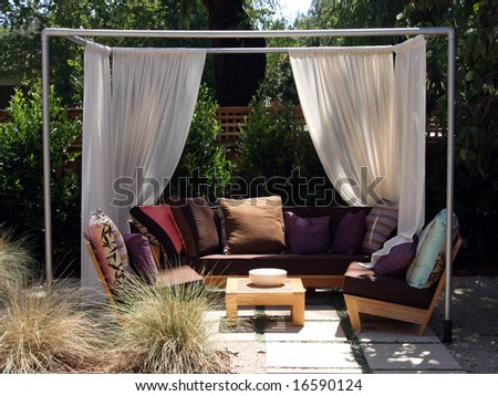 Backyard cabana - stock photo