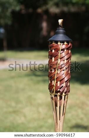 backyard citronella torch - stock photo