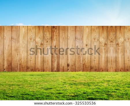 backyard in summer - stock photo