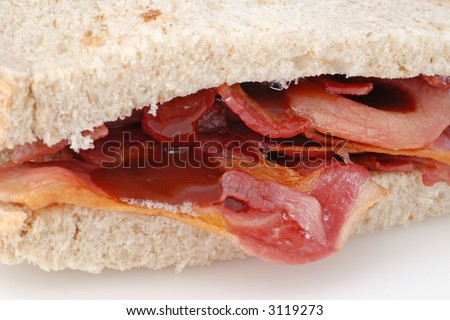 Bacon Butty - stock photo