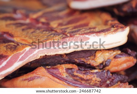 Bacon, cured meat product