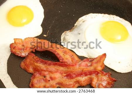 bacon & eggs - stock photo