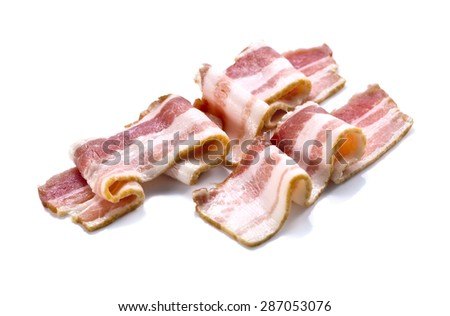 bacon isolated on a white background - stock photo