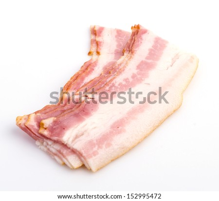 Bacon on white background - stock photo