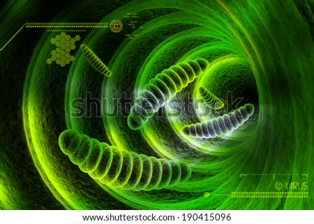 bacteria cell - stock photo
