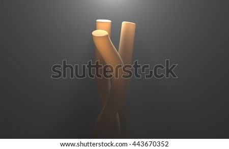 Bacteria cells science 3d illustration - stock photo