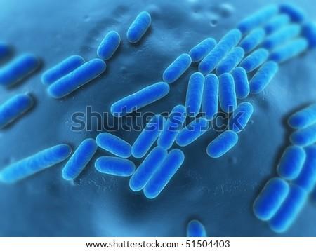 bacteria illustration - stock photo