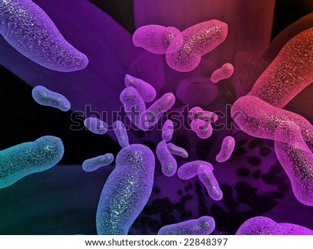 Bacterium background. - stock photo
