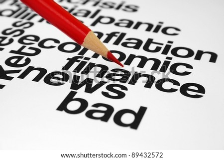Bad finance news - stock photo