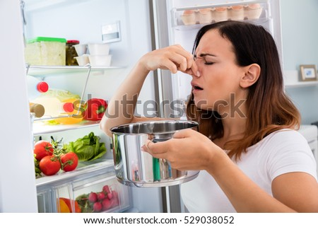 smelly refrigerator clipart. bad food in fridge smelly refrigerator clipart