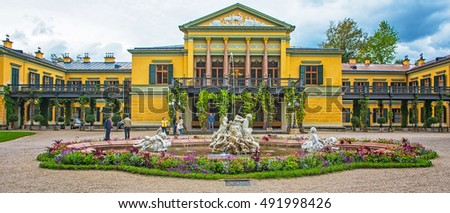 BAD ISCHL, AUSTRIA - 6 SEPTEMBER, 2016: The Kaiservilla in Bad Ischl on 6 September, 2016, Austria, was the summer residence of Emperor Franz Joseph I and Empress Elisabeth of Austria, known as Sisi.