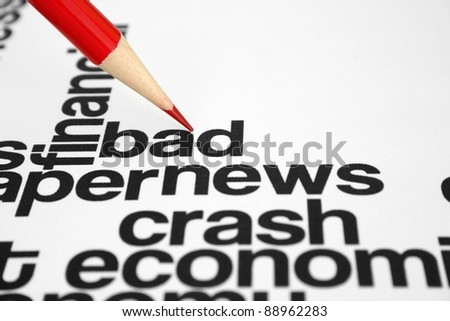 Bad news - stock photo