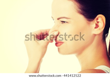 Bad smell. - stock photo