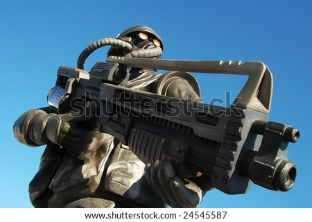 Bad Soldier - stock photo