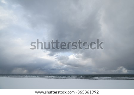Bad weather near the sea, Sakhalin Island, Russia.