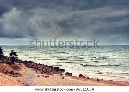Bad weather on the Baltic Sea