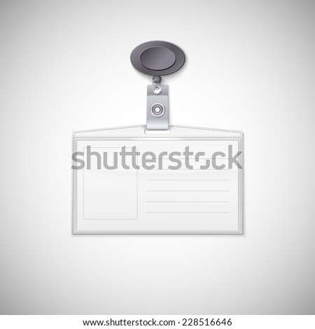 Badge holder.  Realistic Card Name or Id Holder - stock photo