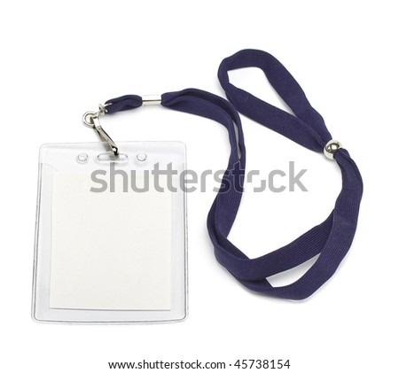 badge ID isolated on white background