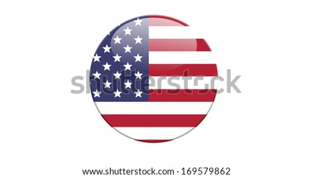 Badge of the Unites States flag - illustration.