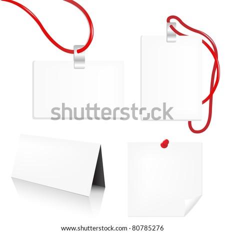 Badge Set, Isolated On White Background - stock photo