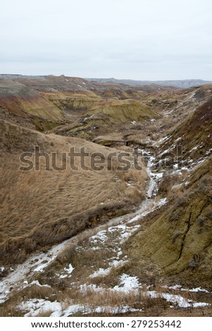 Badlands Landscape - stock photo