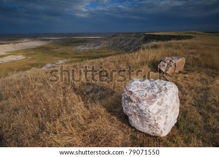 Badlands National Park - stock photo