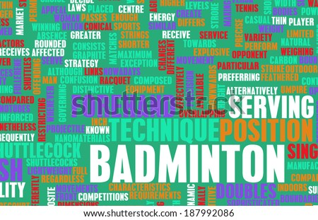 an analysis of the topic of the game of badminton The theoretical framework must demonstrate an understanding of theories and concepts that are relevant to the topic of your research  your analysis of the.