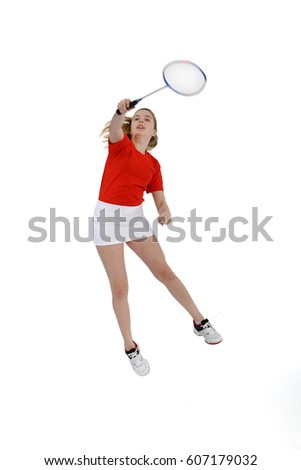 Badminton player, Playing badminton