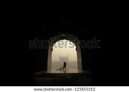 Badshahi Mosque - stock photo