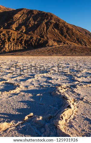 Badwater Basin Death Valley National Park California - stock photo